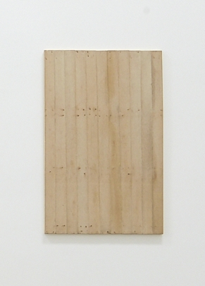 Relation-Quality・Wood, 1978 Cotton cloth, wood, iron nail and water