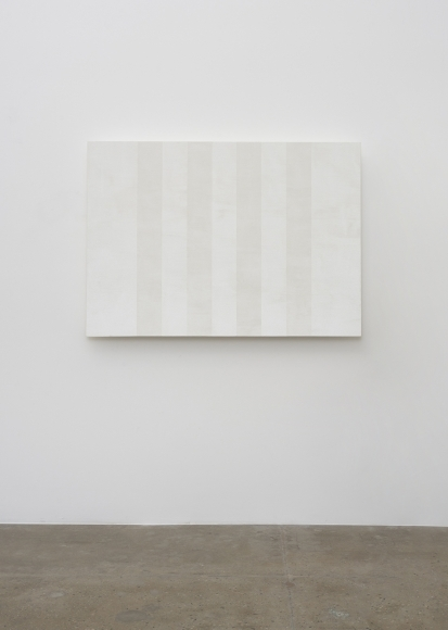 Mary Corse Kayne Griffin Corcoran Contemporary Artist Image Of Untitled White Multiband, Beveled 2012 Glass microspheres in acrylic on canvas