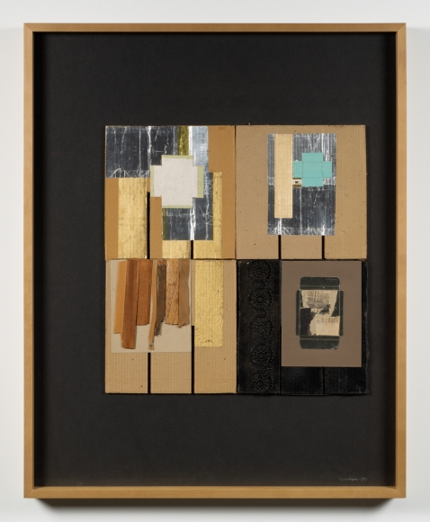 Untitled, 1959 Cardboard, foil, newsprint, paper and wood collage on board