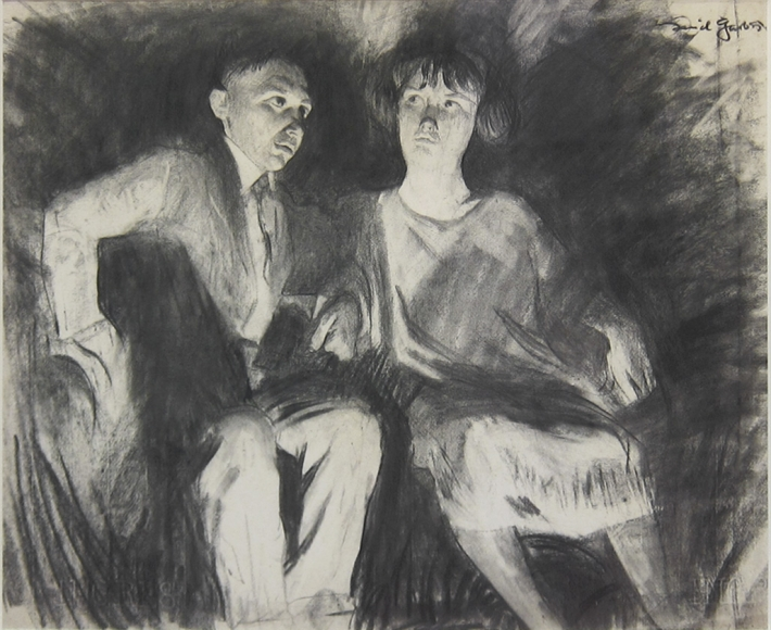 Daniel Garber - Young Man and Woman, circa 1920s