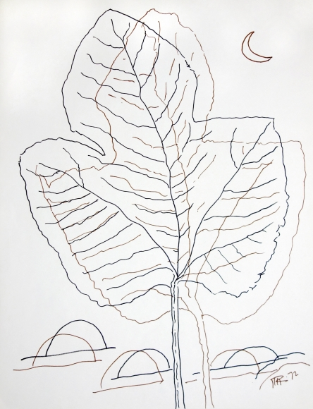 Man Ray - Leaf Drawing, 1972