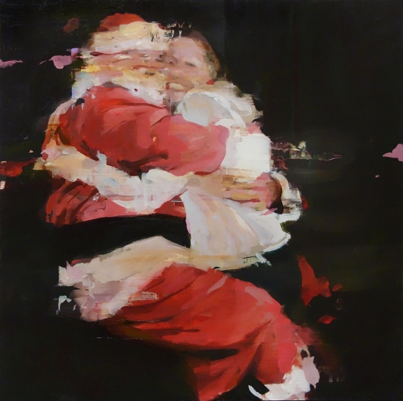 Alex Kanevsky - H.H. with Santa Claus, 2014 - Hollis Taggart