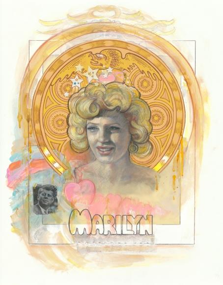 Audrey Flack (b. 1931) Kennedy Marilyn, 2015