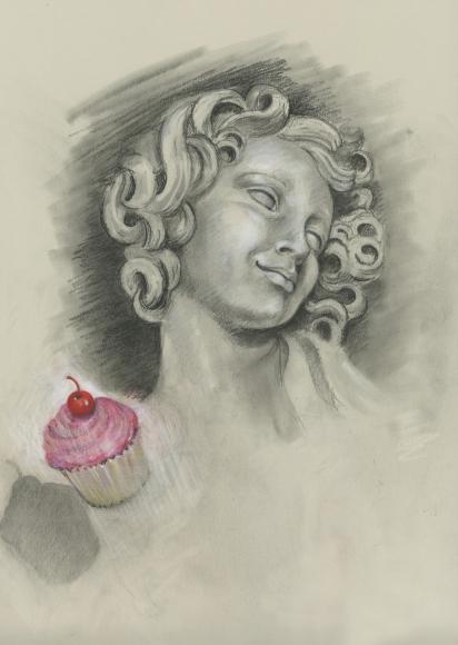 Audrey Flack (b. 1931) Cupcake Angel, 2011
