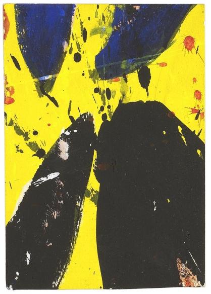 Sam Francis - Blue, Yellow, and Black, 1959