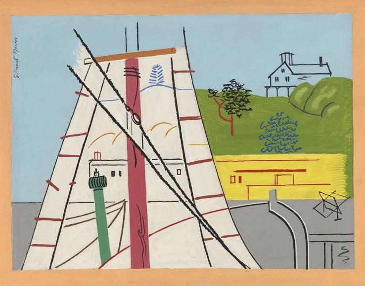 Stuart Davis - Red Mast, 1930