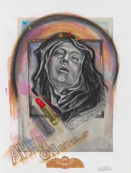 Audrey Flack (b. 1931) St. Teresa AHHH OH OH oh, 2014