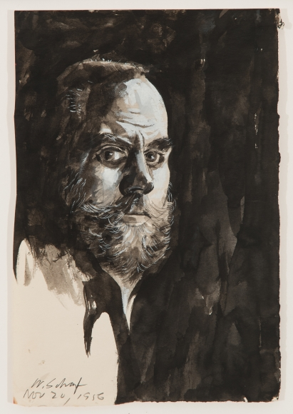 William Scharf, Self Portrait, 1956