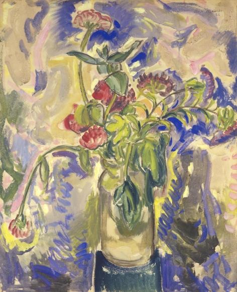 Alfred H. Maurer - Blue Flowers, 1926
