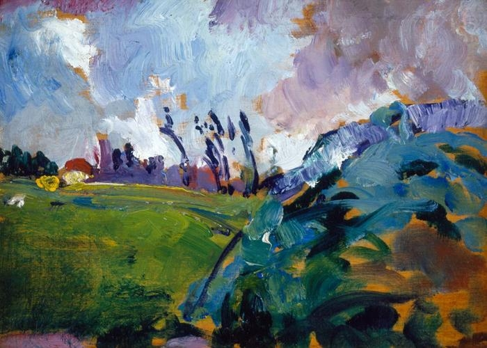 Arthur B. Carles, Jr. - French Landscape (With Trees in Distance), circa 1908-10