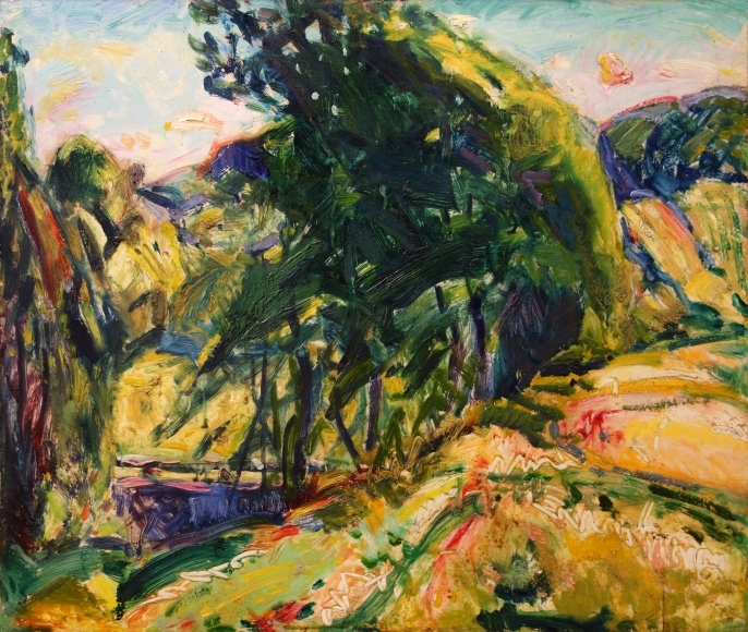 Alfred H. Maurer - Landscape (with Green Tree), circa 1923