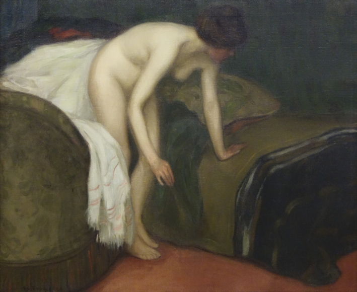 Frederick C. Frieseke - Study of the Nude in an Interior, circa 1901