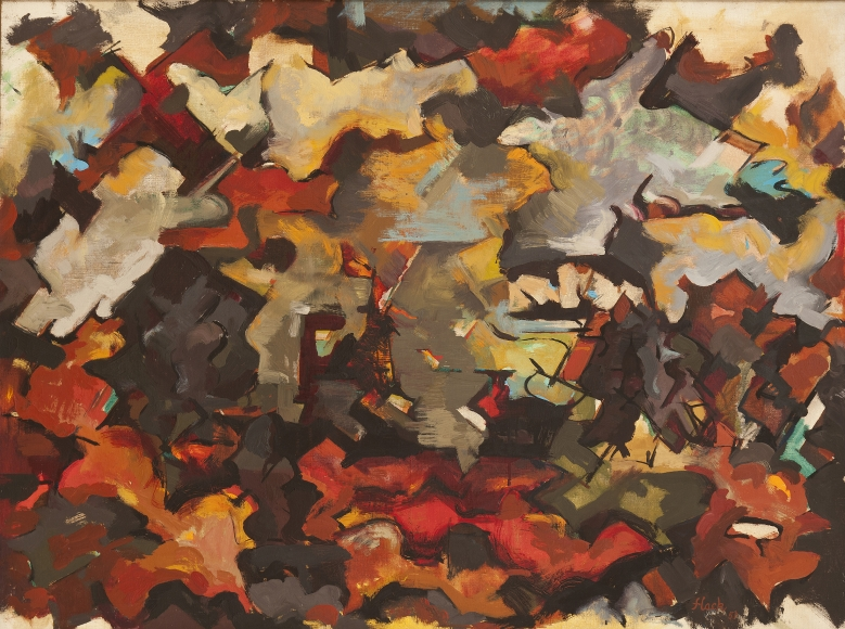Audrey Flack - Abstract Expressionist Landscape (With Clouds), 1951