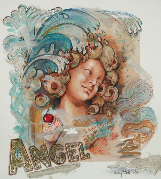 Audrey Flack (b. 1931) Cupcake Angel Splash, 2014/2017