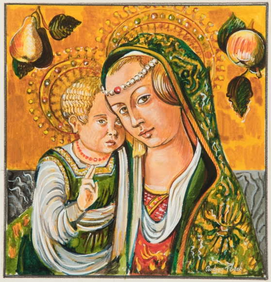 Audrey Flack (b. 1931) Madonna and Child (from Carlo Crivelli), 1980