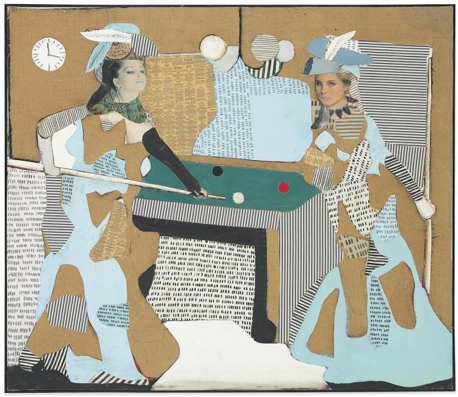 Conrad Marca-Relli - The Pool Game L-I-81, 1981 - Hollis Taggart