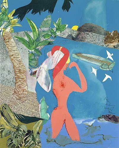 Romare Bearden - At Low Tide, 1988