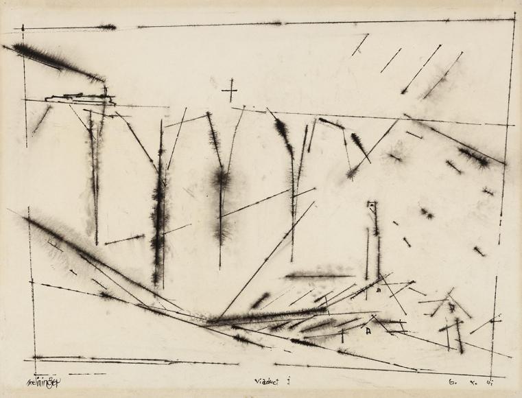 Lyonel Feininger - Viaduct, 1941