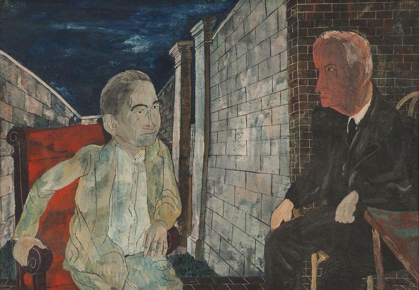 Ben Shahn - Mooney and His Warden, 1933