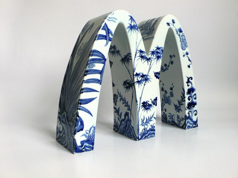 Li Lihong - McDonald's - Four Gentlemen (Plum, Iris, Bamboo and Chrysanthemum), 2007