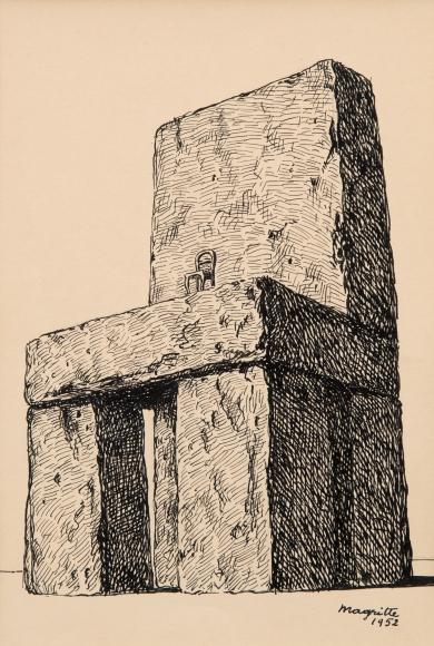 Rene Magritte (1898-1967) La Légende des Siècles, 1952