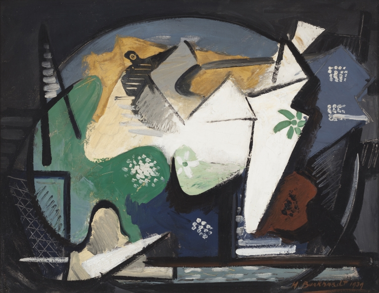 Hans Burkhardt - Untitled (Cubist Composition), 1939