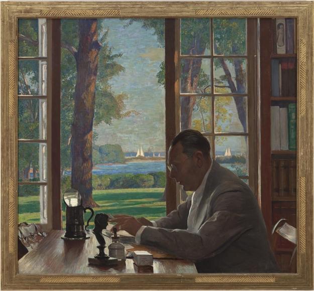 Daniel Garber - Portrait of Hervey Allen, 1935
