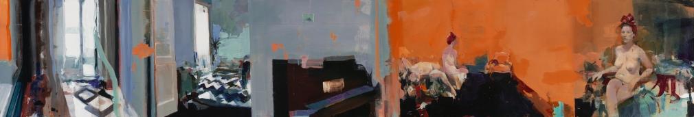 Alex Kanevsky (b. 1963) Lulu in Madrid (Twice), 2017