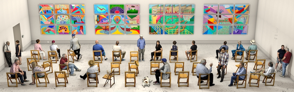 David Hockney, Pictures at an Exhibition,2018