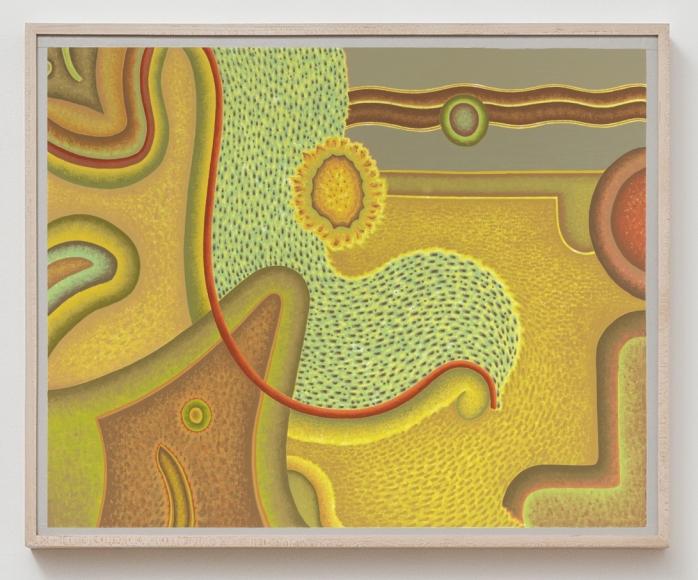 Gravital Shift I, c. 2000s, Oil on multimedia board