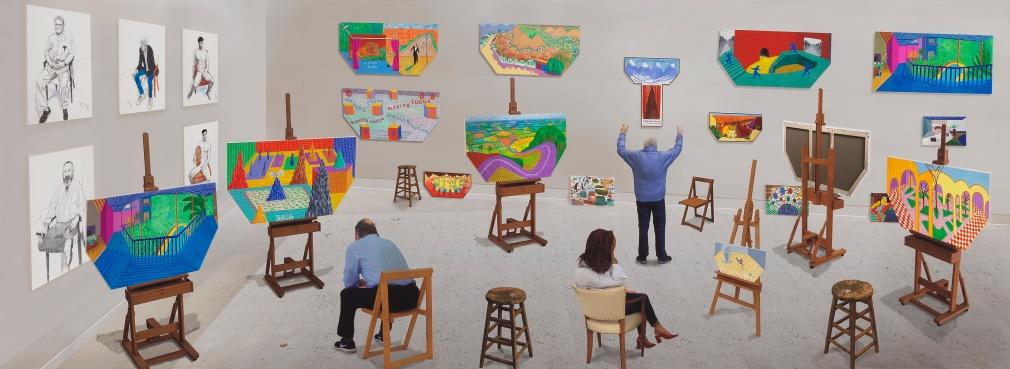 David Hockney Inside It Opens Up As Well,2018