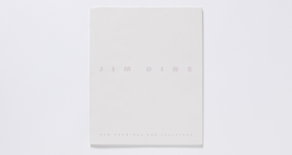 jim dine new drawings catalogue