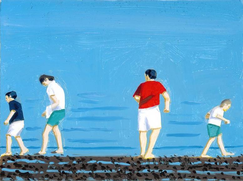 Four People Walking, 2002