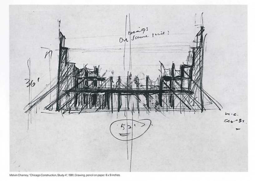 Chicago Construction, Study 4, 1981