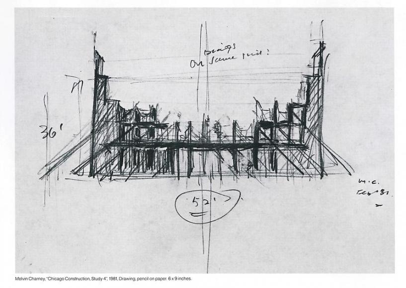 Chicago Construction, Study 4, 1981