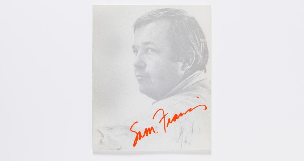 sam francis the edge 2001 catalogue