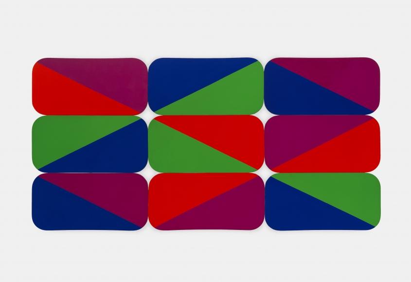 Leon Polk Smith (1906-1996), 2 diamonds 2x's 9 Rectangular Modulars, 1969