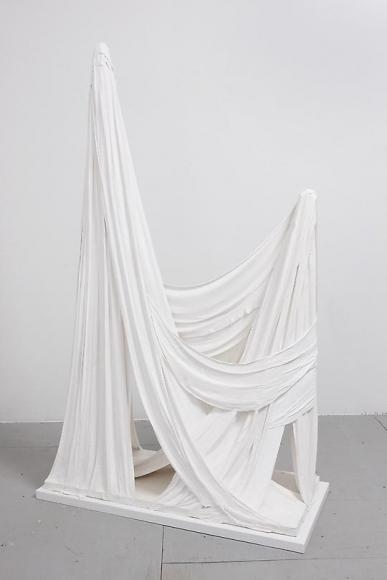 Untitled (Plaster and Fringe, Two Peaks), 2012