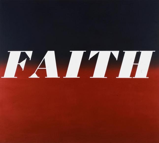 Faith, 1972 Oil on canvas