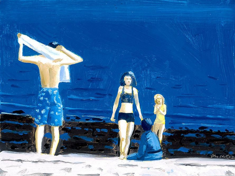 Four People with Towel, 2002