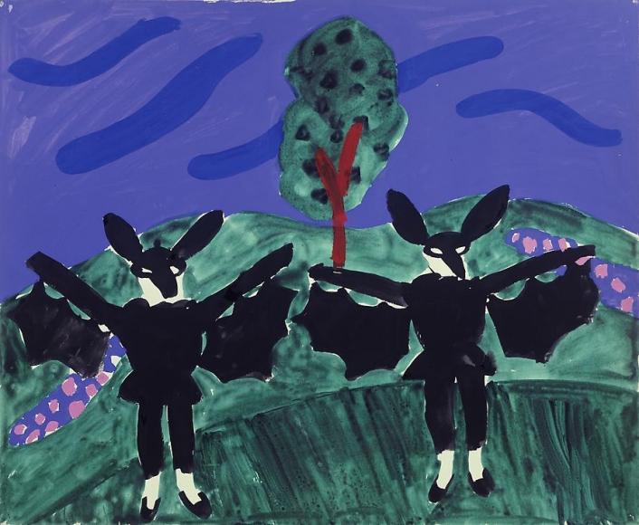 "Two Bats in the Garden from ""L'Enfant et les Sortileges"", 1980"