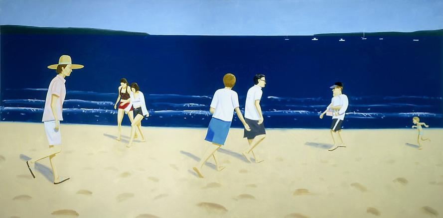 Walking on the Beach, 2002