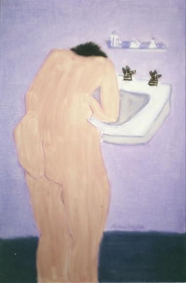 Milton Avery Sunday Morning Oil on canvas board