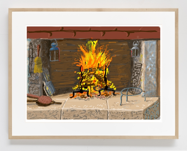 A Bigger Fire, 2020, iPad painting printed on paper