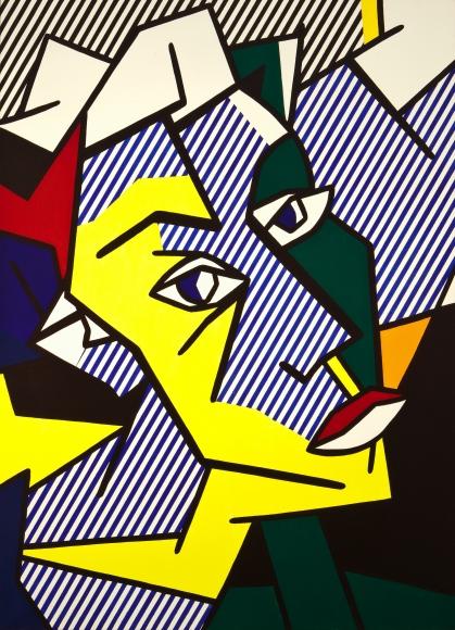 Roy Lichtenstein Head Oil and magna on canvas