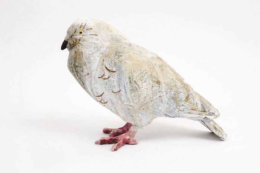 Pigeon, 2006 Patinated bronze and enamel