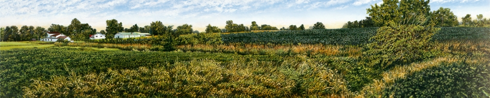 Harold Gregor Illinois Landscape #158 Acrylic on canvas