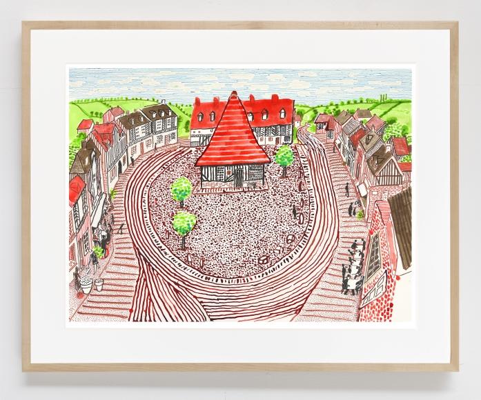 Beuvron-en-Auge Panorama, 2019, Inkjet print on paper