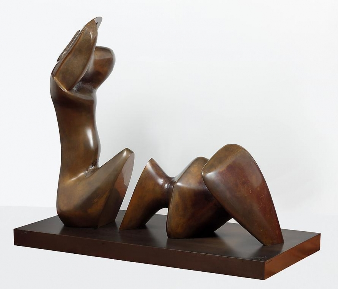 Henry Moore Working Model for Two Piece Reclining Figure: Cut, 1978 - 79