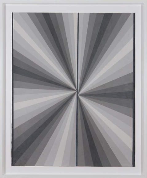 Mark Grotjahn Untitled (French Grey Fan 10%-90% Warm Grey 90% On Sides Cool Grey 90% Middle Line), 2007